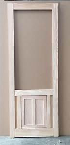 wood screen door with built in dog door flap in oak 30 With solid door with dog door