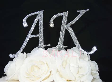 wedding crystal rhinestone renaissance monogram bling cake topper initial letter ebay