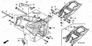 Honda Motorcycle 2008 Oem Parts Diagram For Frame