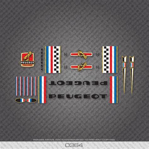 Peugeot Bike Decals by Peugeot 5 Decals Vintage Of Bikes World Shop