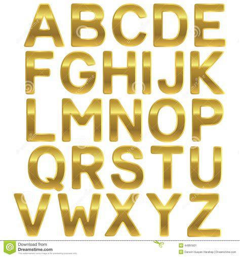 font gold uppercase alphabet stock vector image