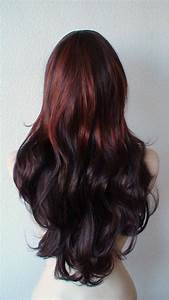 Summer Special // Auburn Ombre colored wig. Long curly ...