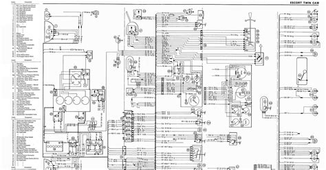 Ford Escort Complete Electrical Wiring Diagram All