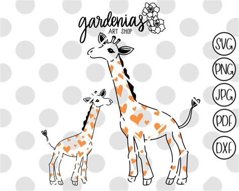 Files are compatible with cricut, cameo silhouette studio and other cutting machines. Baby Giraffe Svg