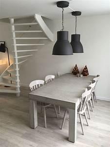 Esstisch Lampen Ikea : betonnen tafel met zet opgeknapte stoeltjes lampen serie hektar ikea ideen f rs haus ~ Frokenaadalensverden.com Haus und Dekorationen