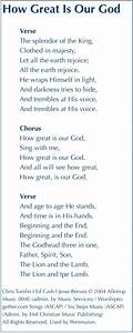 Chris Tomlin How Great Is Our God Lyrics And Chords ...