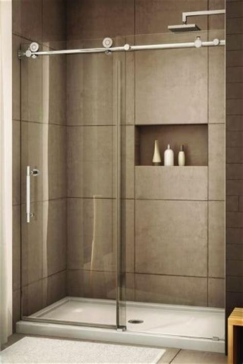 glass shower  sliding glass door love recessed