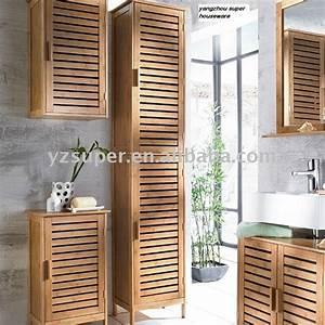Meuble Salle De Bain Haut : meuble haut salle de bain en bambou ~ Teatrodelosmanantiales.com Idées de Décoration