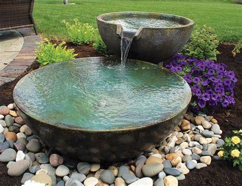 A Small Fountain Enhances Backyard Relaxation