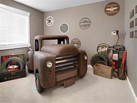 themed room decor bedroom vintage brown truck car themed bedroom design ideas for