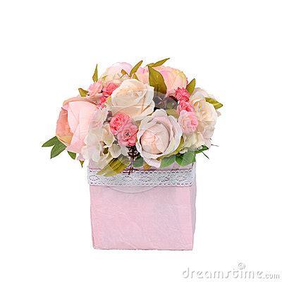 grazie dei fiori testo mazzo dei fiori nella scatola isolata su fondo bianco