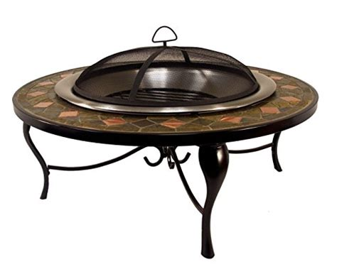 Slate Mosaic Fire Pit Table With Copper Accents Shed Garage Door Tv Cabinets With Doors Bypass Lock Gliding Gds Service Showers Parts Security For
