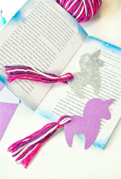 diy unicorn bookmark   unicorn printable