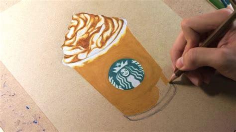 drawing starbucks caramel frappuccino youtube