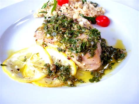 baked tuna steak recipes baked tuna with herbacious gremolata proud italian cook