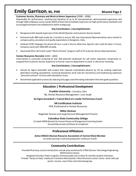 Client Relations Representative Resume by Garrison Emily Client Relationship Manager