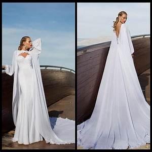 2015 aristocratic long cape wedding dresses saudi arabic With wedding dress with long cape