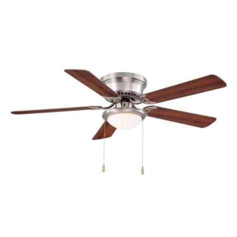 home depot ceiling fans brushed nickel hugger 52 in brushed nickel ceiling fan al383 bn the
