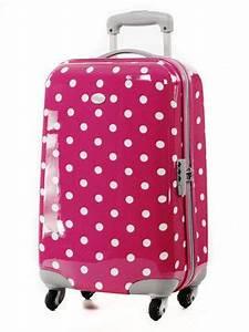 Valise Enfant Fille : valise american tourister lollydots 55 cm pois pink 43775 1694 ~ Teatrodelosmanantiales.com Idées de Décoration