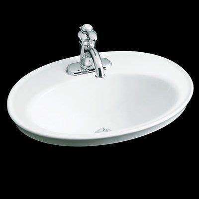 Self Bathroom Sink by Kohler 2075 Serif Countertop Self Bathroom Sink