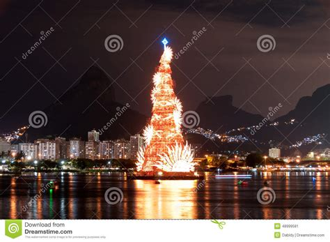 xmas tree structure tree structure in de janeiro stock photo image 48999581
