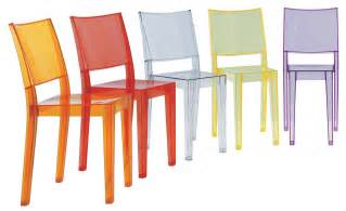 Chaises Kartell Starck by La Marie Stackable Chair Transparent Polycarbonate