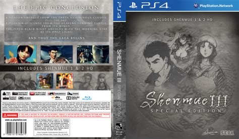 Shenmue Iii Special Edition Playstation 4 Box Art Cover By