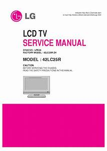 Lg Lp62a Chassis 42lc25r Lcd Tv Sm Service Manual Download