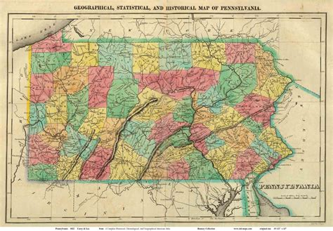 map of mountain ranges pennsylvania map mountain ranges