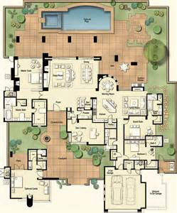 Hacienda Floor Plans with Courtyard