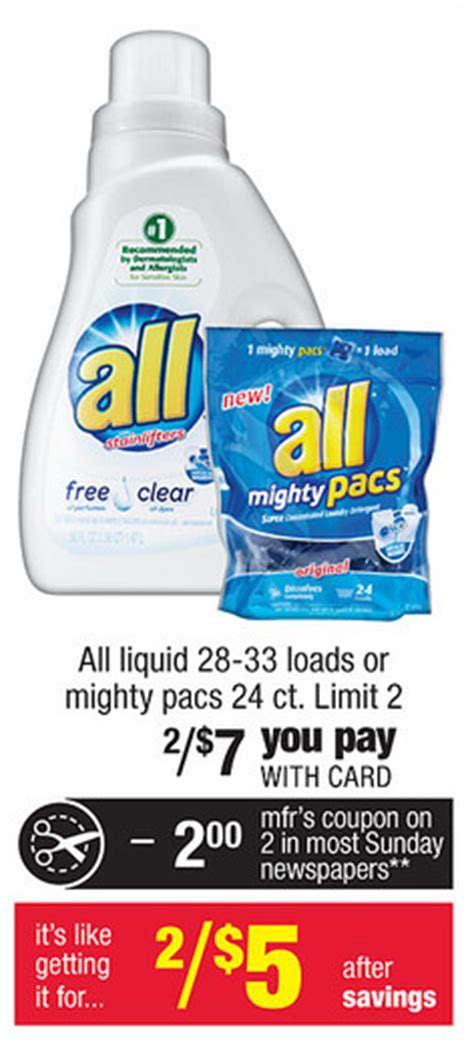 couponing 1 25 all laundry detergent at cvs