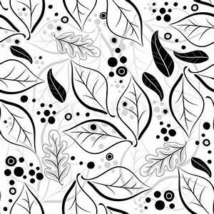 Herbst Schwarz Weiß : nahtlose herbst floral wei schwarz graues muster mit bl ttern vektor vektorgrafik colourbox ~ Orissabook.com Haus und Dekorationen