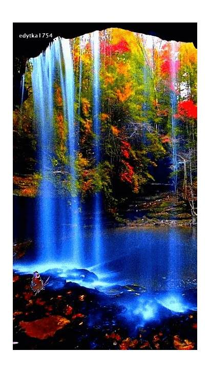 Amazing Scenery Waterfalls Places Nature Water Cave