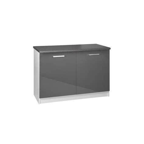 portes meubles de cuisine meuble de cuisine bas 2 portes 120 cm tara laqué