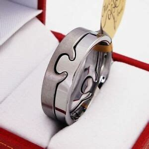 boxed tungsten carbide ring puzzle mens wedding band size q s t w v z 1 l ebay