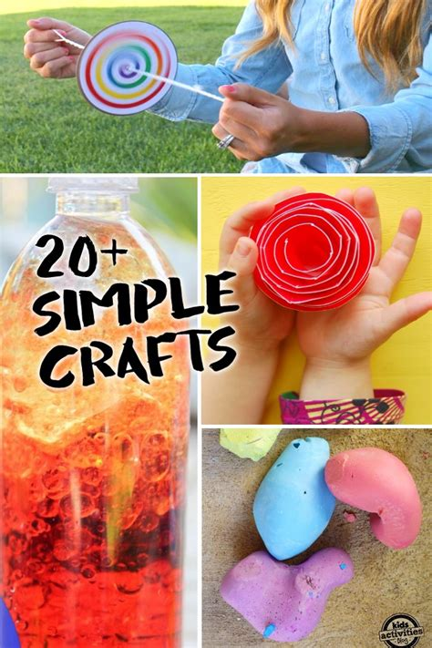 20+ Simple Crafts Kids Can Make With Only 23 Supplies