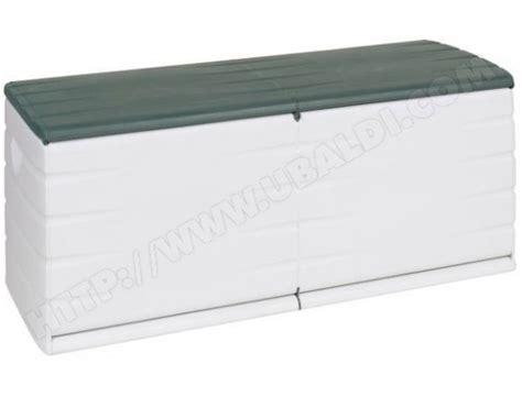 coffre de rangement plastiken 97153 vert jardin et blanc 500 litres pas cher ubaldi