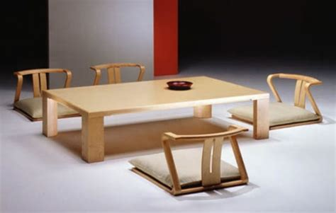 traditional japanese dining table zaisu chairs dining furniture in traditional japanese sitting style