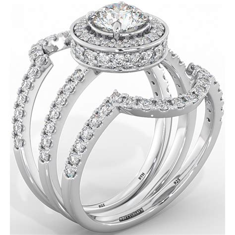cut cz halo design 3 genuine 925 sterling silver luxury unique affordable wedding