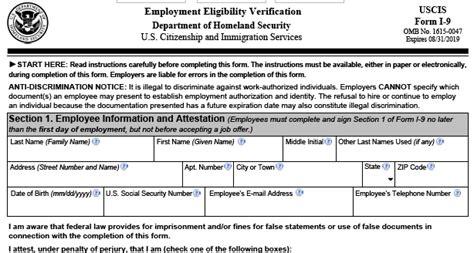 uscis publishes revised form i 9 employment screening