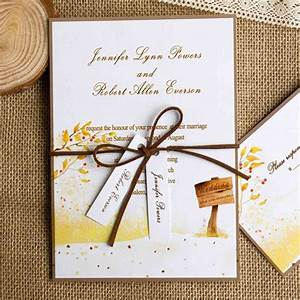 top 10 fall wedding invitations 2014 at With wedding invitations tied with ribbon