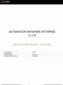 Automation Anywhere Enterprise Client User Manual Aae 11