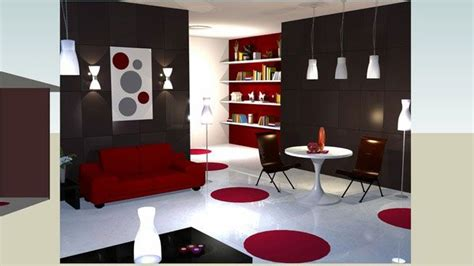 Sketchup Living Room Model by Sketchup Components 3d Warehouse Living Room