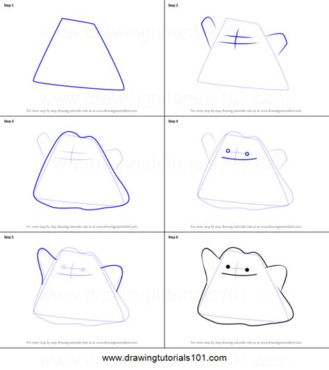 how to draw ditto from pokemon go printable step by step