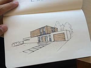 Architektur Haus Zeichnen : design architektur architecture einfamilienhaus home house sketch skizze copic marker ~ Markanthonyermac.com Haus und Dekorationen