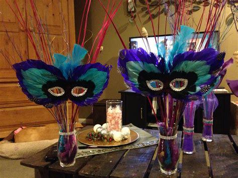 Masquerade Centerpiece 30th Birthday Pinterest