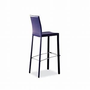 Tabouret De Bar Cuir : tabouret snack ou bar en cro te de cuir ou synderme eliot 4 pieds tables chaises et tabourets ~ Teatrodelosmanantiales.com Idées de Décoration