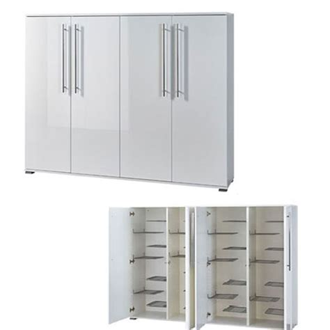 shoe storage cabinet with doors inside double shoe storage cabinet with white gloss doors