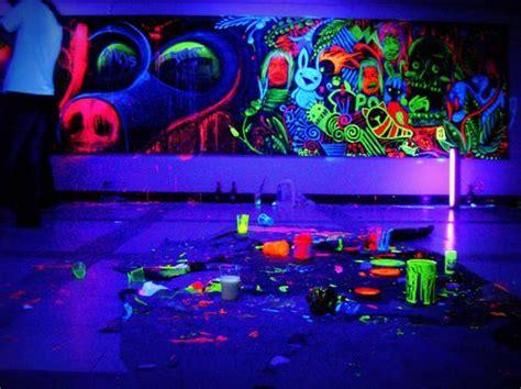 black light room neon room black light room and neon on