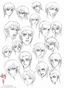 Study: Faces and hair male by The-Nai on DeviantArt